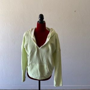 American Eagle lime green white hoodie sweater M